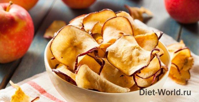 Яблочные чипсы в домашних условиях